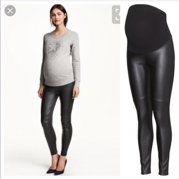 b9106be61db54 H&M Maternity Faux Leather Pants. M_5bbd252245c8b35fbf32572f